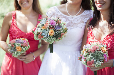Colores vibrantes para vestidos de damas de honor