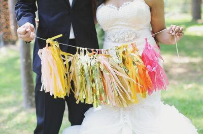 Decoración de boda 2016 con tassels: La propuesta más divertida y llena de color para tu día