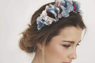 Coronas de flores para novias 2017, ¡lleva un peinado natural!