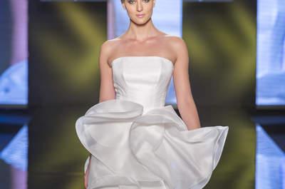 Vestidos de novia con escote palabra de honor para lucir perfecta este 2016: La tendencia favorita