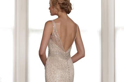 Oro y plata en tu vestido de novia, un toque metálico