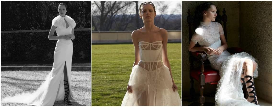 Impressionantes vestidos de noiva Vera Wang 2017: vista um modelo de inspiração 'boudoir' no dia do seu casamento