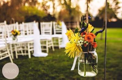 Un alegre color amarillo para la decoración de tu matrimonio