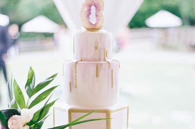 Tendencias en pasteles de boda 2017: ¡Lo más delicioso!
