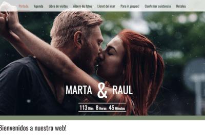 ¡Tu web de boda online, crearla nunca había sido tan fácil!