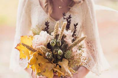 Ramos de novia perfectos para el otoño. ¡Encuentra el tuyo!