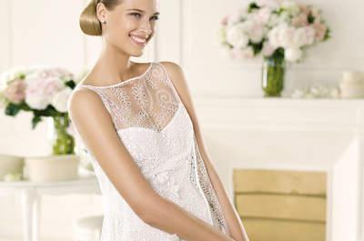 Nuestros favoritos: 10 vestidos de novia cortos para una boda civil