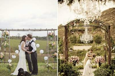 Wedding Decor Highlights: Outdoor Altars