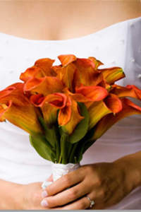 Bouquet de mariée composé de callas