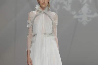 Plisowane suknie ślubne. O kroju, który wraca i zachwyca. Sprawdź!