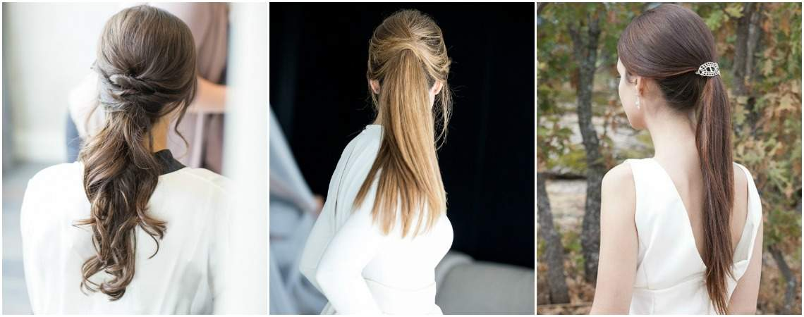 20 Chic Ponytail Hairstyles for Your Wedding 2017