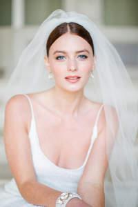 Peinados de novia con velo 2017