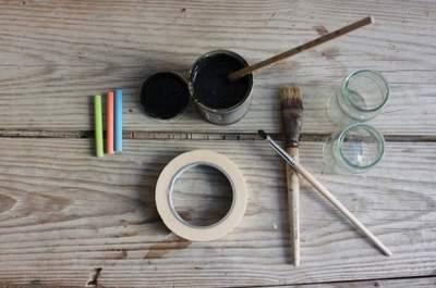 DIY: Marcadores de mesa em vidro e tinta-ardósia