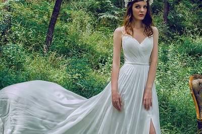 36 vestidos de novia de color 2017. ¡Las mejores alternativas de tendencia!
