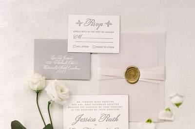 Bonitas invitaciones de boda atemporales. ¡Para todas las estaciones del año!