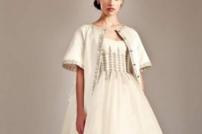 Vestidos de noiva curtos à frente e longos atrás: arrisquem e ganhem!