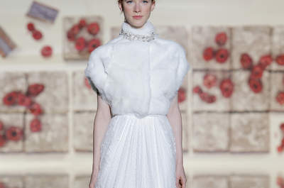 Robes de mariée à col montant 2017 : Une mariée sage et sensuelle à la fois