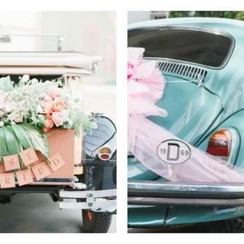 Peppen Sie Ihr Hochzeitsauto auf - Vintage, Hippie, bunt und unvergesslich!