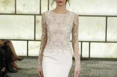Los 60 vestidos de novia con mangas largas más lindos: El detalle obligado para darle la bienvenida al otoño