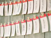 Marcadores de mesa originais para o seu casamento 2016