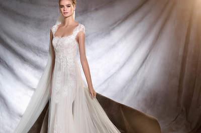 Preciosos vestidos de novia escote cuadrado 2017: un clásico que nunca muere