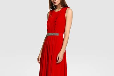Vestidos de fiesta rojos largos 2017: Para una invitada de lujo
