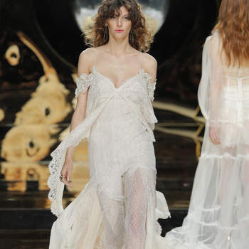 Vestidos de novia con hombros caídos 2017: signo de distinción y elegancia