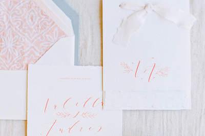 Más de 30 invitaciones de boda con diseños femeninos y muy inspiradores… ¡Perfectas!