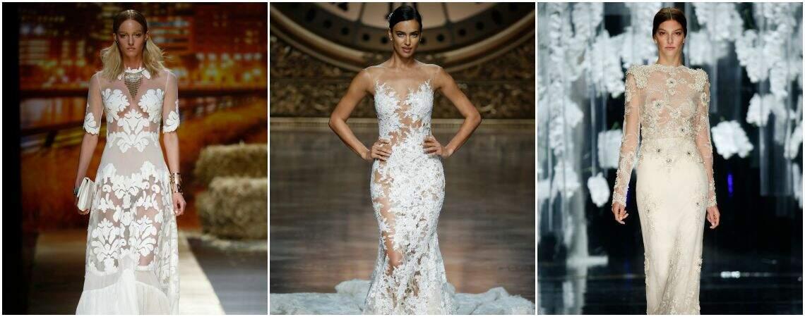Transparanten bruidsjurken voor 2016: ontdek het ´tattoo effect´!