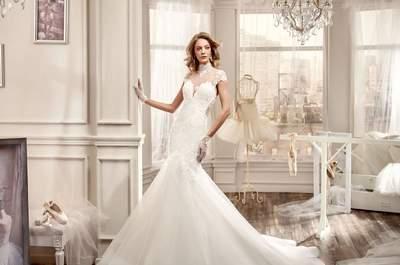 Vestidos de novia con cuello cisne 2016: un estilo conservador y con clase