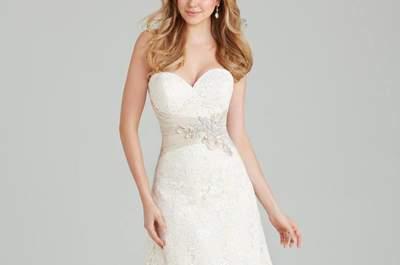 Vestidos de novia escote corazón 2017. ¡Luce como una princesa en tu gran día!