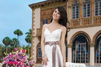 Vestidos de novia Sincerity Bridal 2015: artesanía bordada y cortes sensuales