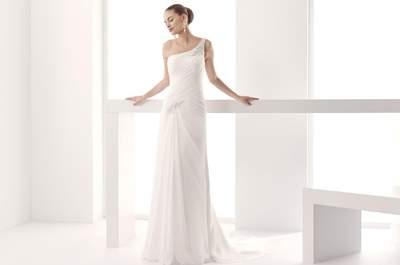 Asymmetrische Brautkleider-Ausschnitte: Unkonventionell, aber elegant!