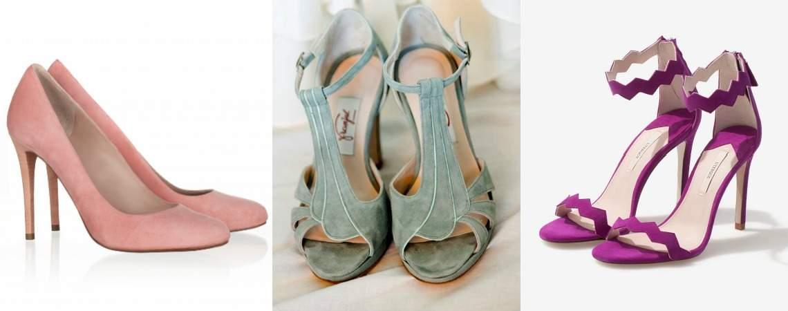 Chaussures de mariée colorées 2017 : un look plein de vie !