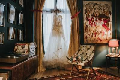 Dans les coulisses de la préparation de la mariée avec ce shooting d'inspiration intime et rock'n'roll
