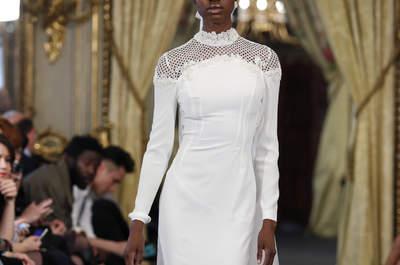 Vestidos de novia cuello cisne 2017. ¡Discreción y elegancia!
