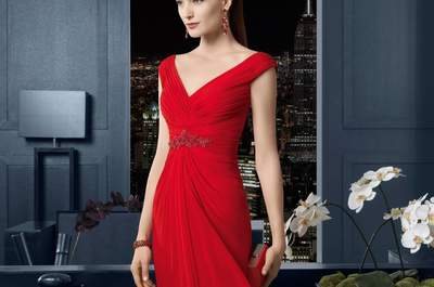 Selección de vestidos rojos para invitadas