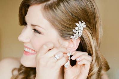 Pretty hair jewellery for a beautiful bridal look