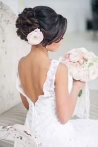 Coiffures de mariée avec cheveux relevés 2017