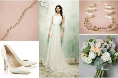 El nuevo look de la semana: Una novia al estilo plumeti