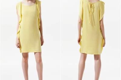 Selección de vestidos amarillos para invitadas a una boda