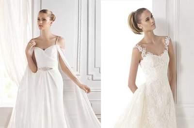 Brautkleider mit Trägern 2015: Die neuesten Looks der aktuellen Saison