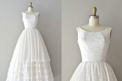 Sélection de robes de mariée vintage sur Etsy