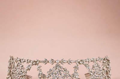 Inspiratie uit de jaren '20, voor uw trouwjurk met bijpassende accessoires!