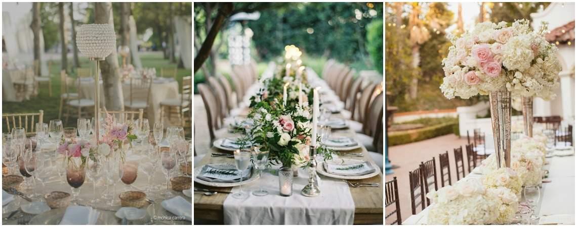Tendencias del 2016 para decorar las mesas del banquete de tu boda: ¡30 fabulosas opciones!