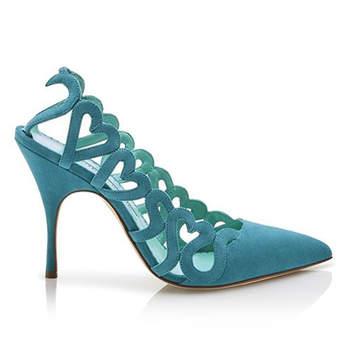 Zapatos de novia de color 2017: Un toque de mucha personalidad en tu look