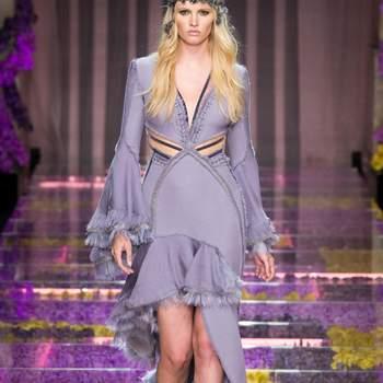 Atelier Versace alta costura otoño 2015: Vestidos de fiesta llenos de magia, encanto y color