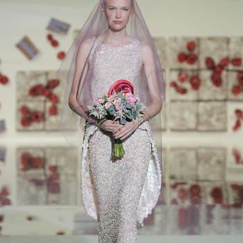 Diseños para las novias más dulces: vestidos de novia Jesús Peiró 2017
