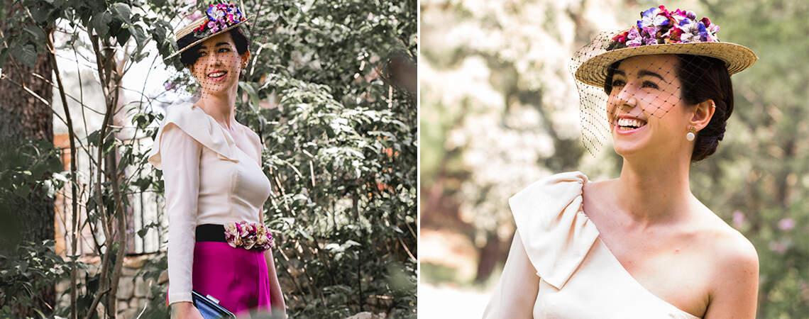 Look 1: Aires románticos y modernos combinados para una boda de día