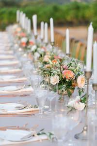 Decoración de mesas del banquete 2017